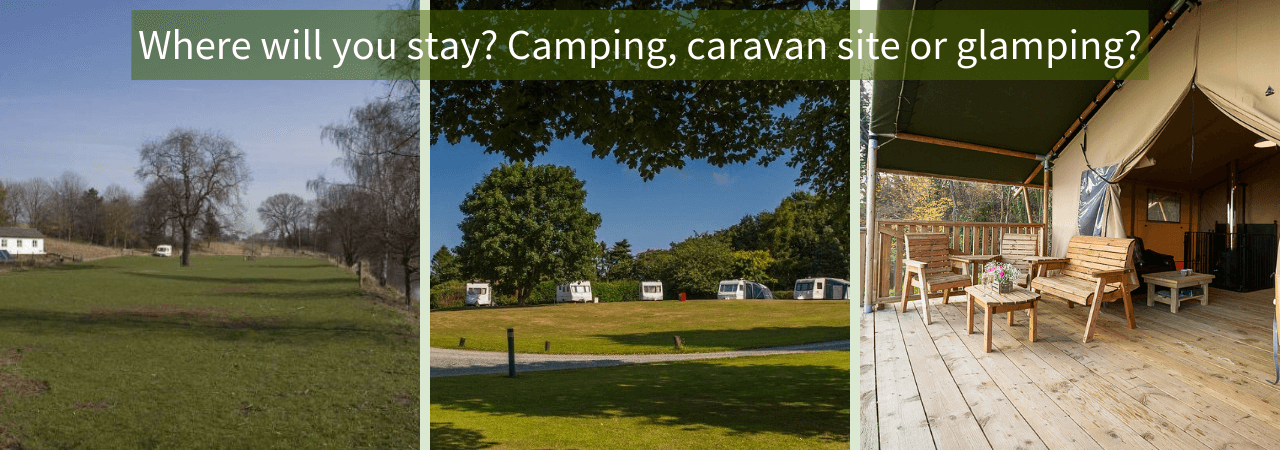 Camping, glamping and narrowboats