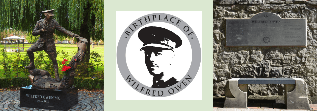 Wilfred owen, war poet, born in Oswestry